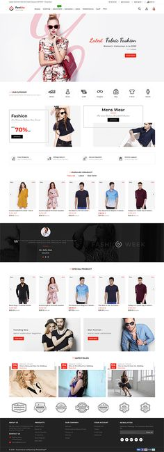 Femista The Fashion Store Template - My Design Ideas 2019 Website Design Inspiration, Design Ideas, Ecommerce Webdesign, Ecommerce Websites, Ecommerce Website Design, Web Design Agency, Photoshop, Best Web Design, Startup