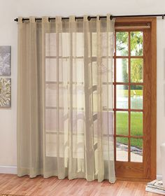 Extra-Wide Patio Door Curtain | The Lakeside Collection & Curtain for kitchen sliding door - white linen SONOMA Goods for ... pezcame.com