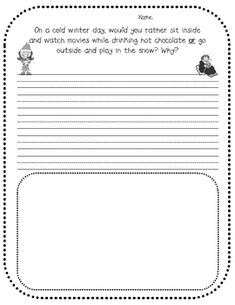 Free winter writing prompts - good for opinion writing Work On Writing, Opinion Writing, Persuasive Writing, Writing Workshop, Teaching Writing, Teaching Ideas, Writing Resources, Writing Activities, Writing Ideas