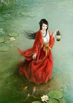 姜嫄,姓姜,陕西省武功县人,原为炎帝后代有邰氏的女儿,后来成为黄帝曾孙帝喾的元妃,姜嫄踩巨人足迹而生下后稷,后稷教人务农,成为中国的农耕始祖,也是周人的祖先