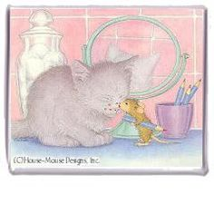 """Magnet - Kitten Kisses"" from House-Mouse Designs / www.house-mouse.com - (M-2001-3). This item was recently purchased off from our web site, www.house-mouse.com. Click on the image to see more information."