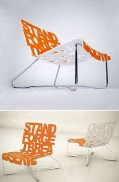 typographic chair