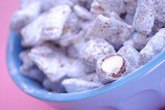 Nutella Almond Muddy Buddies - Something Swanky
