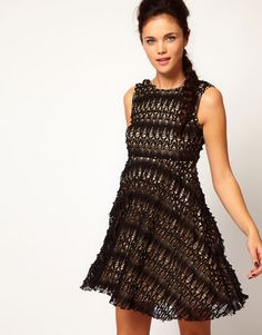 River Island Chelsea Girl Lace Skater Dress