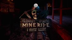 [ Ghost Town Mine Ride ] Taking a tour with a gun through an intense and paranormal gold mine