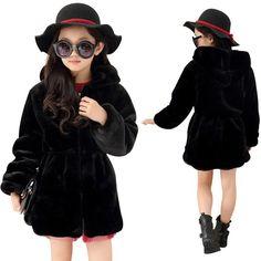 26.86$  Watch now  - 2016 Girls Winter Faux Fur Fleece Girls Coats Kids Warm Jacket Children Snowsuit Outerwear Dress Style Jacket Free Shipping