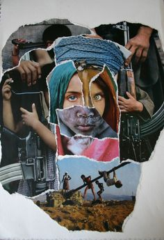 My collage of Steve McCurry photographs