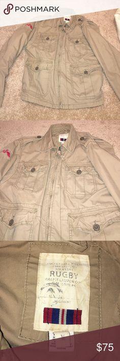Rugby/ Ralph Lauren jacket Tan bomber jacket. Lightly worn. Ralph Lauren Jackets & Coats