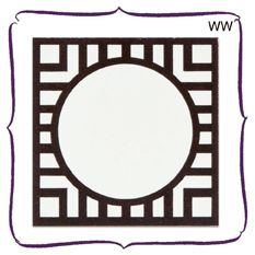 Wendelline Papers Tented Medallion Place card in winter white.  Set of 12 $12.00  www.wendellinepapers.com