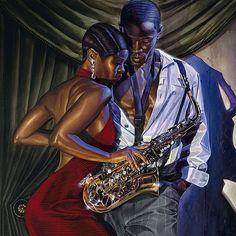 Black Is Beautiful. Sexy Black Art, Black Girl Art, Black Is Beautiful, Beautiful Images, Black Girls, Black Art Painting, Black Artwork, Jazz Painting, African American Artwork