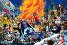 1000 Piece Banquet One Piece (japan Import) One Piece Japan, One Piece 1, One Piece Anime, Action Figure One Piece, Devian Art, Nico Robin, Action Figures, Painting, Ebay