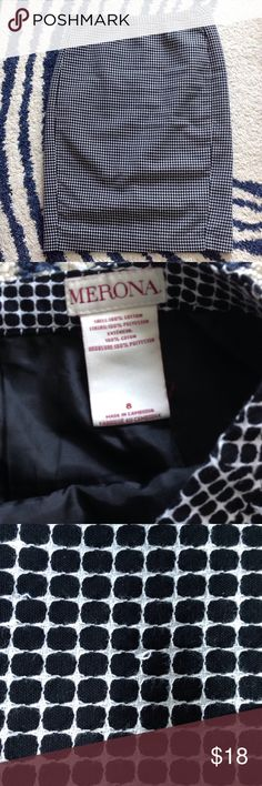 Window pane Pencil Skirt Fully lined. Midi. good used condition. No flaws except the occasional snap in the stitching as shown in photo. Not obvious when worn. Merona Skirts Pencil