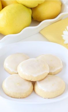 Glazed Lemon Cookie Recipe on twopeasandtheirpod.com Lemon cookies with a sweet lemon glaze! LOVE these cookies
