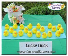 Lucky Duck spring carnival game idea!