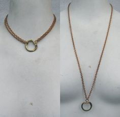 Vintage Lanyard chain Necklace ring holder by madmadcrafter