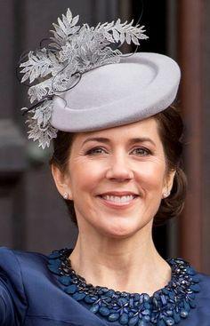 Princess Mary, April 16, 2015 in Jane Taylor | Royal Hats
