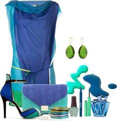 Stylish Eve Combo, blue and purple