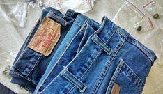 Две пары джинсов после ремонта отправились к своему хозяину. Будут служить ещё долго. Ремонт джинсов в Москве: +7 915 316 95 13 (звонки и мессенджеры). Repair Jeans, Pants, Fashion, Trouser Pants, Moda, La Mode, Women's Pants, Fasion, Women's Bottoms