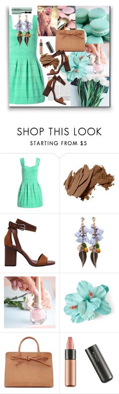 """Sweetheart Neck Ombre Mini Dress"" by pesanjsp ❤ liked on Polyvore featuring Bobbi Brown Cosmetics, Kristin Miller, Christian Louboutin and Mansur Gavriel"