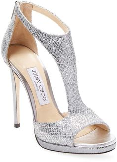 0b78d19584313 Jimmy Choo Women s Lana High Heel Sandal  ad  silver Metallic Sandals