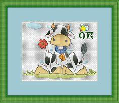 Pattern for cross stitch  Aida 14, white  Size 70*53 ( 13*10 cm) DMC palette , 12 colors + blends embroidery technic : cross , 3/4 , half-cross,