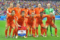 De elftalfoto van het team dat Costa Rica tijdens  de penalty reeks versloeg in de 1/4 finale van #wk2014