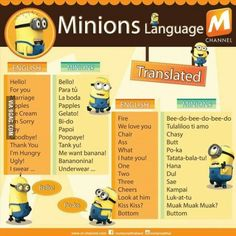 Learn the Minions language!