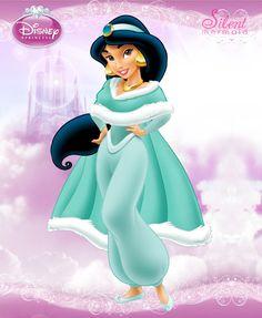 Disney Princesses - Winter Jasmine by SilentMermaid21 on deviantART