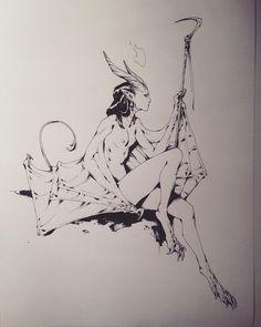 """andrew mar"" on Shift Click Character Inspiration, Character Art, Character Design, Art Sketches, Art Drawings, Female Demons, Matte Painting, Dark Fantasy Art, Art Challenge"