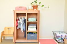 Wardrobe to promote toddler independence - How We Montessori