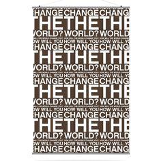 Change the World Canvas Wall Art Chocolate - CTWCH_3454C