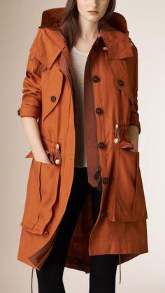 Linen Parka with Bellows Pockets | Burberry