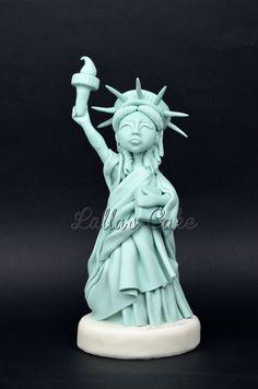 Statue of Liberty - Statua della Libertà Lalla's Cake, cake design, sugar paste, pasta di zucchero