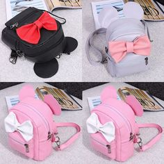 962609d8d9fa Fashion Girls Cute Synthetic Leather Bow Small Travel Backpack School Bag