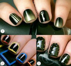 Cool nail art for short nails - The Nailasaurus