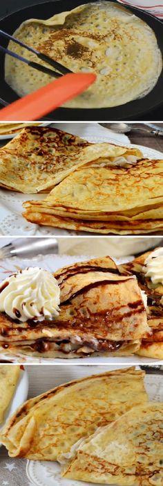 ¡Así es cómo se prepara deliciosos CREPS CASEROS MAS RICOS DEL MUNDO, muy fáciles. Receta deliciosa!  #creps #crepes #crepas #facil  #masa  #tips #pain #bread #breadrecipes #パン #хлеб #brot #pane #crema #relleno #losmejores #cremas #rellenos #cakes #pan #panfrances #panettone #panes #pantone #pan #recetas #recipe #casero #torta #tartas #pastel #nestlecocina #bizcocho #bizcochuelo #tasty #cocina #chocolate           Si te gusta dinos HOLA y dale a Me Gusta MIREN... Mexican Food Recipes, Ethnic Recipes, Food Fantasy, Cake Recipes, Pancakes, Sandwiches, Appetizers, Cooking Recipes, Bread