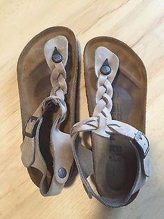 c5e254228e86 Birkenstock Kairo Braided Leather Beige Sandals 38 US 7-7.5