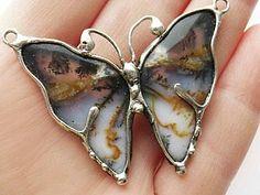 Рождение бабочки. Мастер-класс по созданию украшения в технике «Тиффани» | Ярмарка Мастеров - ручная работа, handmade
