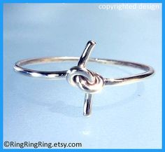Promise knot ring, 925 sold sterling silver ring jewelry, size 6, Gift for girlfriend, friendship 090612