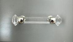 chrome + lucite drawer pulls