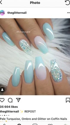 Nagelideen Landscape Design - Well Balanced Home Landscaping Balance is a principle of all art forms Gorgeous Nails, Pretty Nails, Ongles Baby Blue, Hair And Nails, My Nails, Cinderella Nails, Nail Art Designs, Blue Gel Nails, Uñas Diy