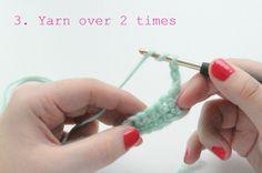 double treble crochet stitch 1-400