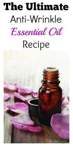 The Ultimate Anti-Wrinkle Essential Oil Recipe (Geranium, Sandalwood, Lavender, Frankincense, Rosemary, Fennel, Lemon, & Carrot Seed essential oils)
