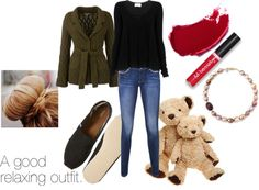 """""""A relaxing home outfit!!"""" by i-love-idk ❤ liked on Polyvore"""