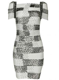 Gray Beaded Short Sleeve Slim Sexy Bandage Dress H265 ($99, original price $118.8) http://udobuy.com/goods-13514.html#.UreuoNLEeeo