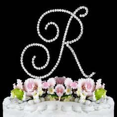 RENAISSANCE MONOGRAM WEDDING CAKE TOPPER LARGE LETTER R by Other * New and awesome product awaits you, Read it now : : baking decorations