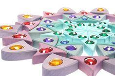 Sparkling Wooden Mandala - Grimm's Spiel und Holz Design