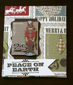 Designed by maryross: Mas sobres navideños.christmas gift card holder, nutcraker made with merry and type stamp set and letter to santa paper from stampin up