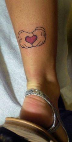 Mickey Hand Heart Tattoo,  stephanielynnxo- checkoutmyink.com