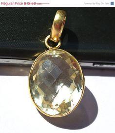 10% OFF SALE Gold Plated AA Natural Lemon by RareGemsNJewels